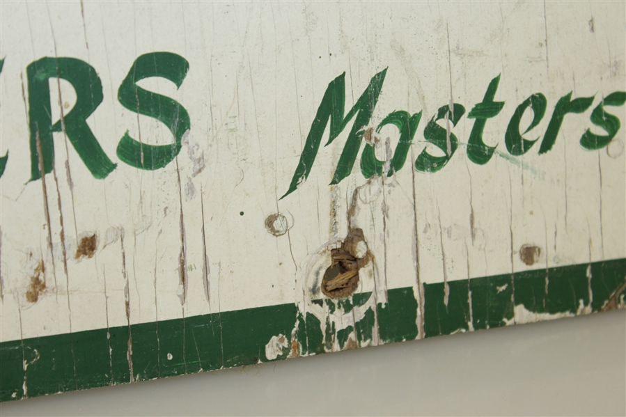 Circa 1960's Masters Tournament Wood Entrance Sign with Original Paint