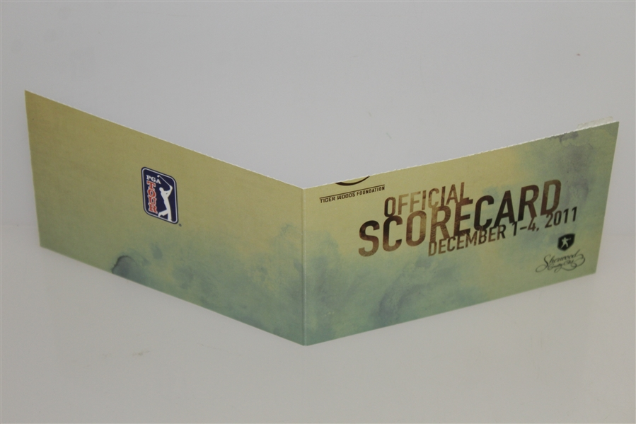 Tiger Woods Signed Sunday Scorecard from 2011 Chevron World Challenge Win! JSA ALOA