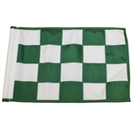 Pebble Beach Green and White Checkered Course Flown Flag