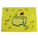 1997 Masters Flag (Seldom Seen, 1 Year Style) Signed by Players From That Years Field JSA FULL #Z47550
