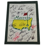 25 Masters Champs Signed Garden Flag with Spieth, Nicklaus, Mickelson, Ford, & others JSA ALOA