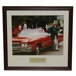 Arnold Palmer Four Time Masters Champion with Cadillac at Augusta National - 1973 - Framed