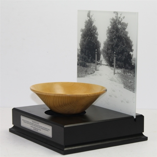2012 Jamboree 'Magnolia Lane' Bowl with Mounted Picture - Seldom Seen - Wow!