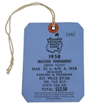 1958 Masters Tournament Series Badge #2882 - Arnold Palmer First Masters Win!