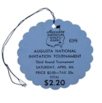 1936 Augusta National Inv. (Masters) Third Round Ticket #698 - Originates From Bobby Jones Neighbors Collection