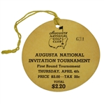 1935 Augusta National Inv. (Masters) First Round Ticket #631 with Original String - A Beauty