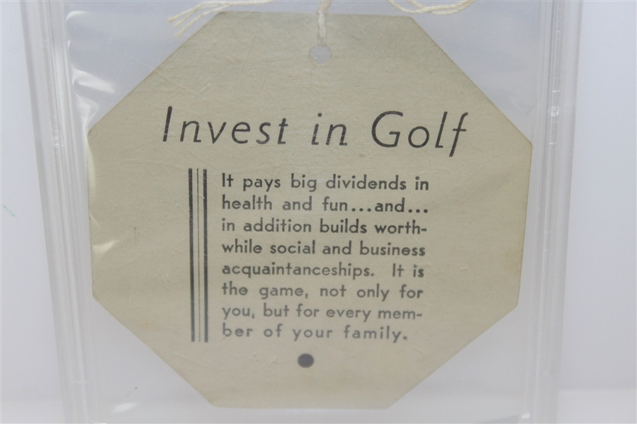 1937 Augusta National Inv. (Masters) Fourth Round Ticket #3946 with Original String