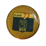 1998 Masters Tournament Player Contestant Badge #72 - Major Winner Mark Brooks
