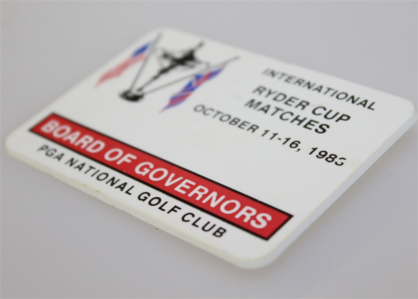 Deane Beman's 1983 Ryder Cup at PGA National Golf Club Board of Governors Badge