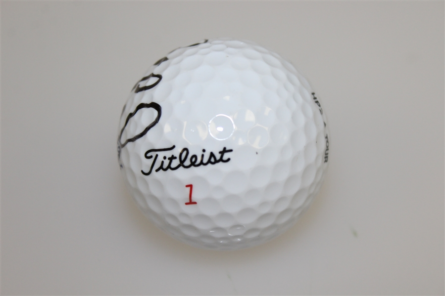 Justin Leonard Signed 1997 Royal Troon OPEN Logo Golf Ball JSA ALOA