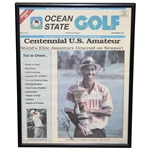 Tiger Woods Signed 1995 Ocean State Golf Magazine Cover - September - Framed JSA ALOA