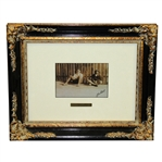 Bobby Jones & Caddy 1923 August Montell Photo Piece - Framed