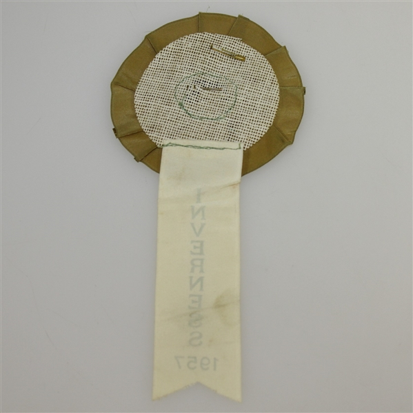 1957 US Open at Inverness Honored Guest Button with Ribbon
