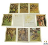 Complete 1966 Set of The History of Golf with 8 Original Lithographs in Original Package