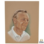 Arnold Palmer Ryder Cup Captain Pastel Drawing Signed by Artist M. Mullins