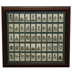 Full Set of 50 Marsuma Co. Tobacco Cards - Framed Presentation