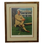 Gene Sarazen Sitting in Front of Clubhouse The Squire Ltd Ed Print