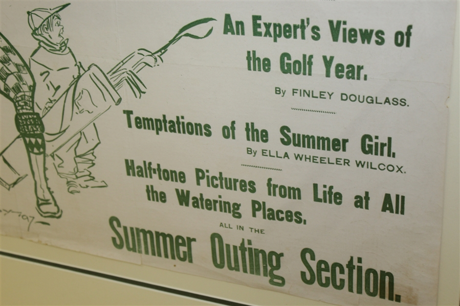 New York Sunday Journal Summer Outing Section Advertising Poster