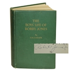Robert T Jones Signed First Edition 1931 The Boys Life of Bobby Jones by O.B. Keeler Book JSA ALOA