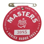 1963 Masters Tournament Series Badge - Nicklaus First Masters Win