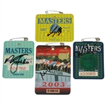 1987, 1989, 1992 & 2003 Masters Tournament Series Badges - Signed By Champ! JSA ALOA