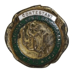 1931 US Open Championship at Inverness Contestant Badge - Billy Burke Winner