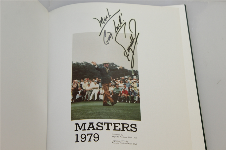 1979 Masters Tournament Annual Book - Signed By Winner Fuzzy Zoeller JSA ALOA