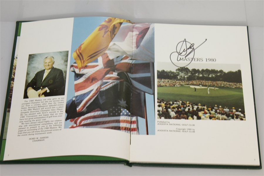 1980 Masters Tournament Annual Book - Signed By Winner Seve Ballesteros JSA ALOA