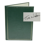 1981 Masters Tournament Annual Book - Signed By Winner Tom Watson JSA ALOA