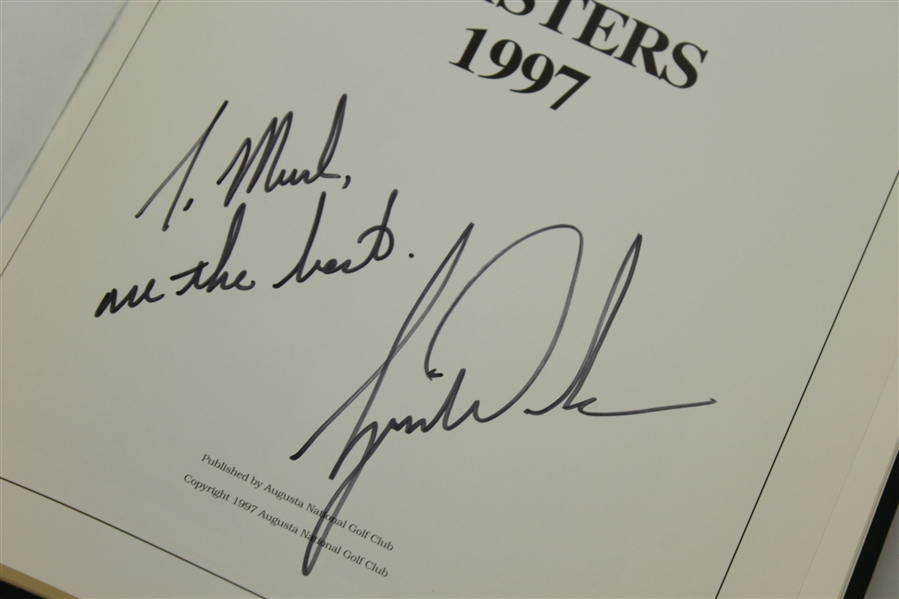 Tiger Woods Signed 1997 Masters Tournament Annual Book JSA ALOA