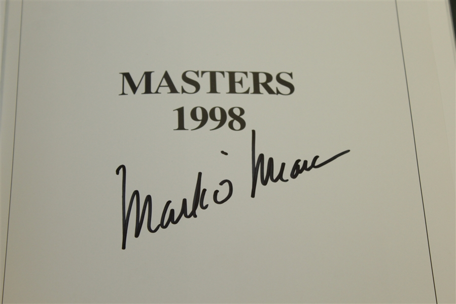 1998 Masters Tournament Annual Book - Signed By Winner Mark O' Meara JSA ALOA