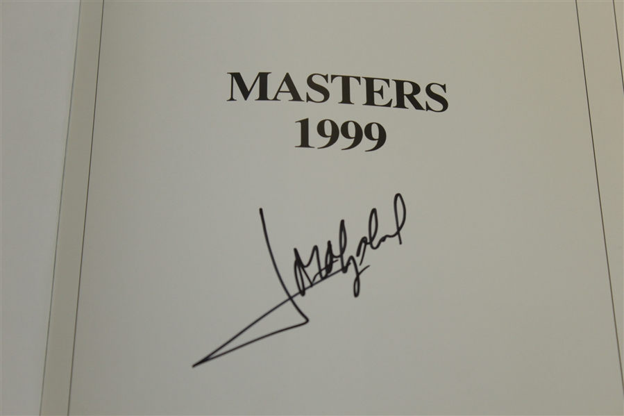 Jose Maria Olazabal Signed 1999 Masters Tournament Annual Book JSA ALOA