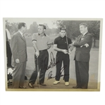Arnold Palmer & Gary Player Dual Signed Vintage Photo JSA ALOA