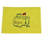 Phil Mickelson Signed 2006 Masters Flag JSA ALOA
