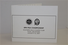 2007 PGA Championship at Southern Hills Official Scorecard - Woods Victory