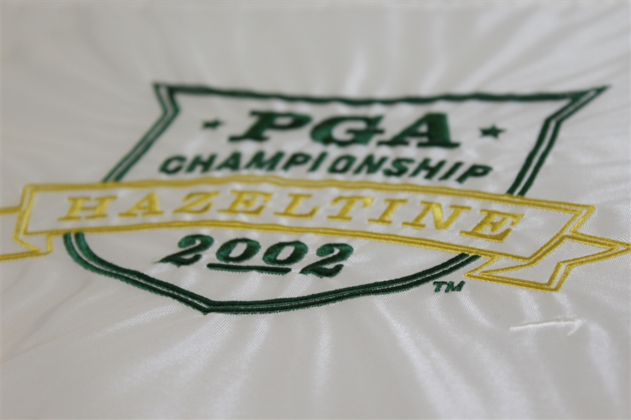 2002 PGA Championship Embroidered Flag White Version - Rich Beem Winner