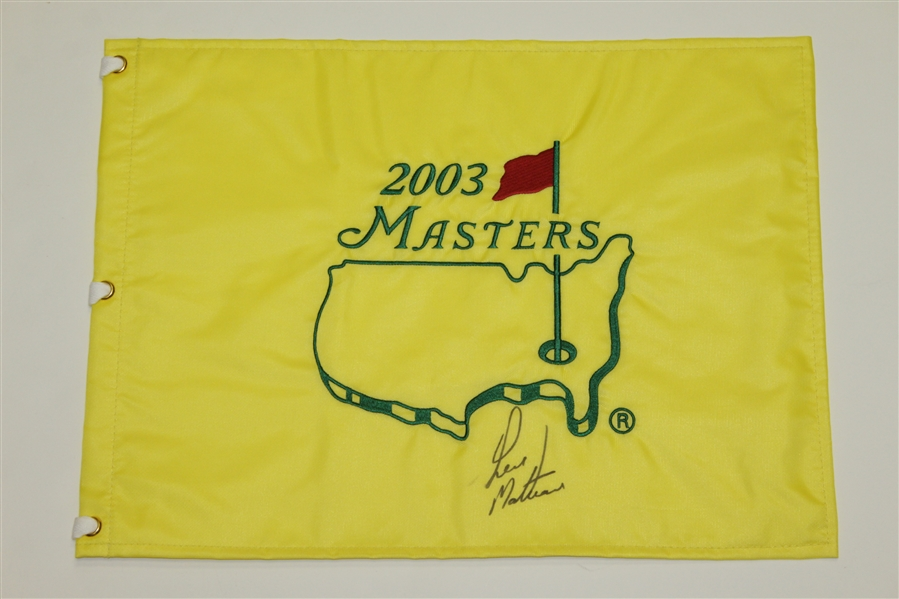 2003, 2004 & 2005 Masters Tournament Flags Signed By Runner Ups JSA ALOA