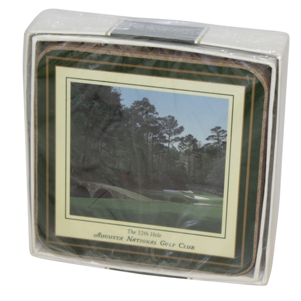 Augusta National Golf Club Coaster Full Set Depicting Famed Holes - Sealed