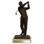 Walter Hagen Bronze Statue Mid-Swing - Golfer of the Decade 1918 to 1927
