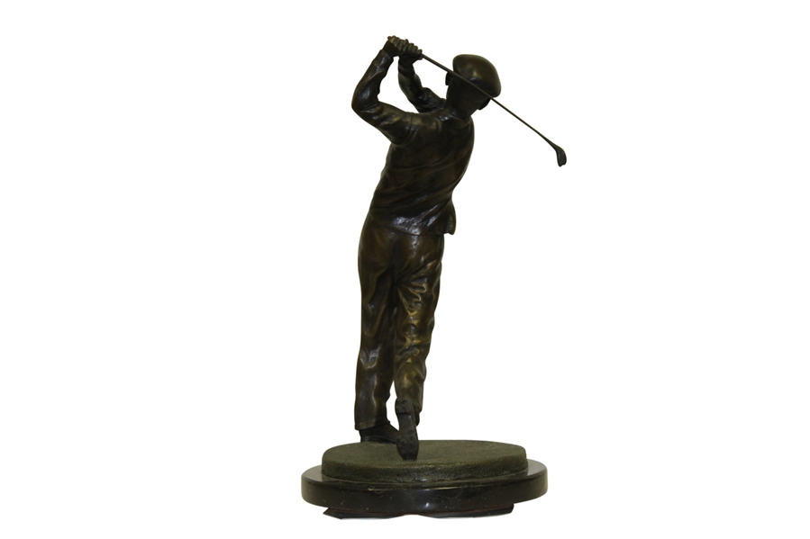 Ben Hogan Ltd Ed Bronze Colonial Country Club Sculpture #153 of 200 w/ Note of Appreciation & Authenticity