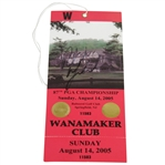 Phil Mickelson Signed 2005 PGA Championship at Baltusrol Final Round Ticket JSA ALOA