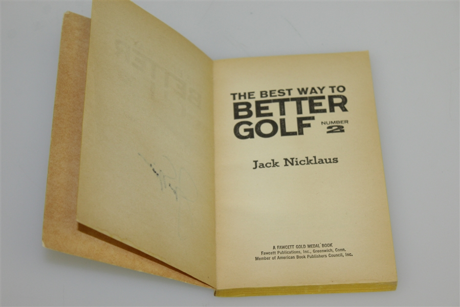 Jack Nicklaus Signed The Best Way to Better Golf 1968 Book JSA ALOA