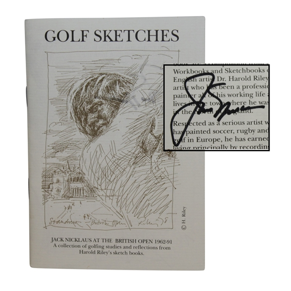 Jack Nicklaus Signed Book of Studies & Reflections From 1962-1991 British Opens By Harold Riley JSA ALOA