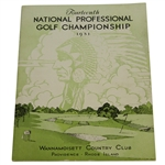 1931 PGA Championship Program - Wannamoisett CC - Tom Creavy Winner