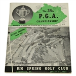 1952 PGA Championship Program - Big Spring CC - Jim Turnesa Winner