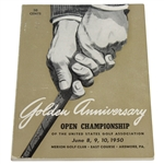 1950 US Open Championship Program - Merion Golf Club - Ben Hogan Winner