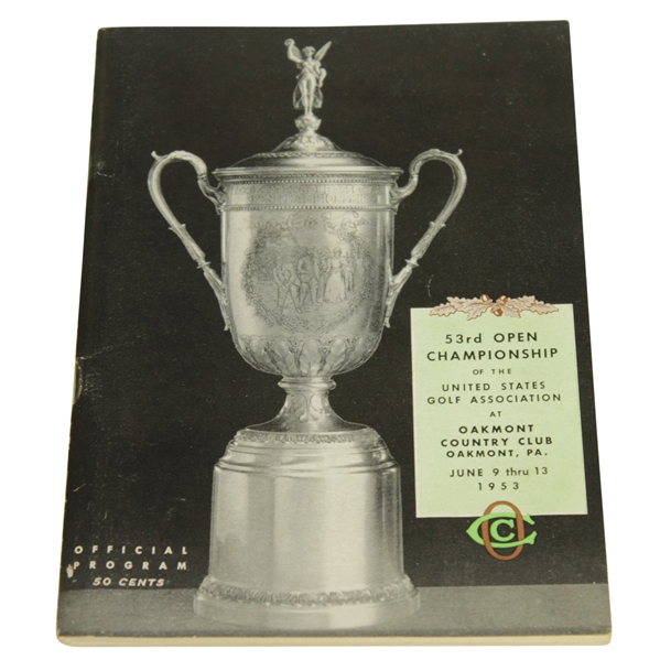 1953 US Open Championship at Oakmont Official Program - Ben Hogan Winner