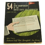 1954 US Open Championship at Baltusrol Golf Club Program - Ed Furgol Winner