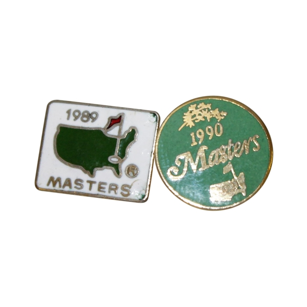 Masters Tournament Employee Pins - 1989 & 1990
