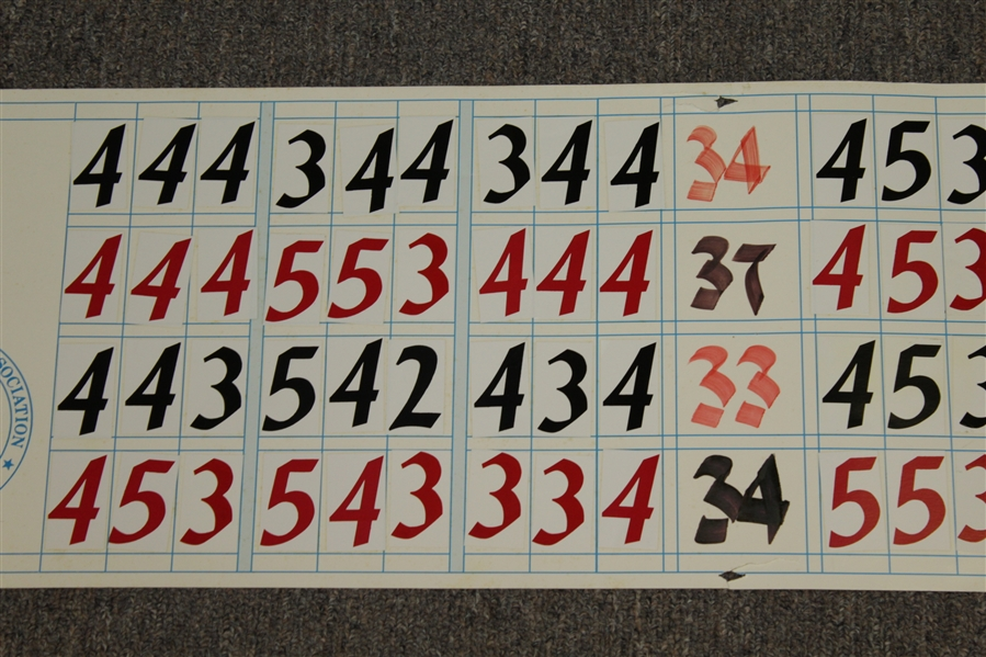 Jack Nicklaus Signed 1993 US Senior Open at Cherry Hills Hand-Written Scoreboard- Tournament Used in Victory JSA ALOA